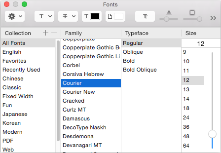 Curse you, Apple, for breaking the fonts panel
